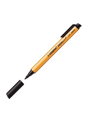 Stabilo  Greenpoint Keçe Uçlu Kalem Siyah 6088-46 Siyah